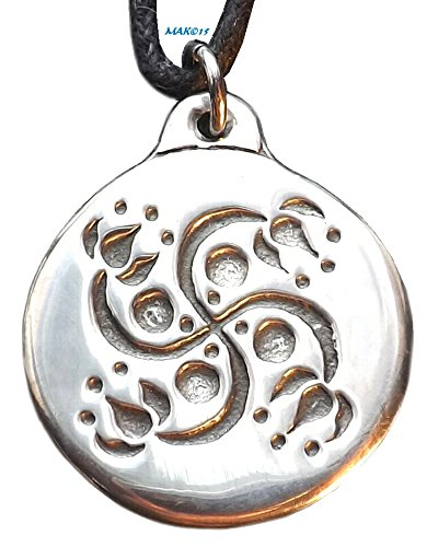 Lotus Swastika - Pewter Pendant - Hindu, Eastern Jewelry, Ganesha ()