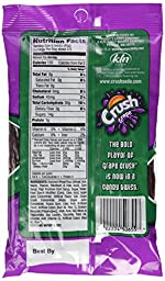 Grape Crush Licorice Twists - Made with Real Grape Crush! 5oz (4 Packs)