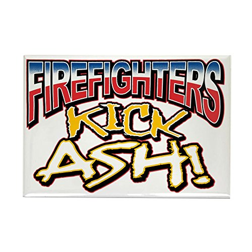Rectangle Magnet Firefighters Kick Ash ()