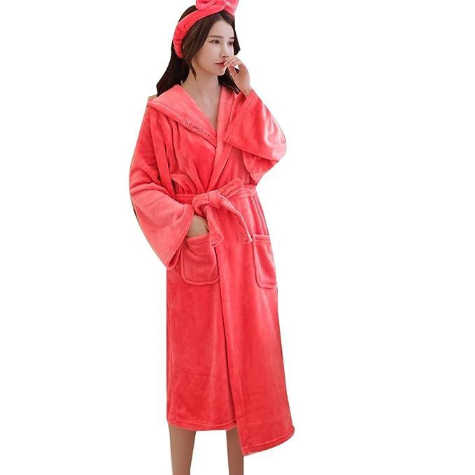 LYLXS Mujer y Señores Batas Algodón Camisón Pijama con ...