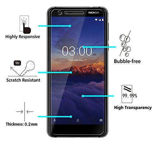 iVoler [2 Unidades] Protector de Pantalla para Nokia 3.1 / Nokia 3 2018, Cristal Vidrio Templado Premium: Amazon.es: Electrónica