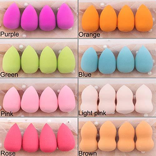 20pcs Mini Makeup Sponge Water Drop Shape Makeup Soft Foundation puff Concealer Flawless Mixed cosmetic makeup sponge