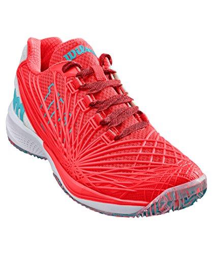 Femme Orange Kaos Chaussures 2 Tennis fiery Court 0 Clay 000 Wilson Coral W Curacao White De Blue TzxAnv