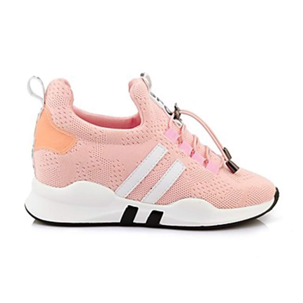 TTSHOES Per Donna Scarpe Nylon Primavera Primavera Nylon Estate Comoda Sneakers Corsa/Ginnastica Zeppa Punta Tonda Bianco/Nero / Rosa,Pink,US2.5/EU32/UK1/CN31 - 9b0116