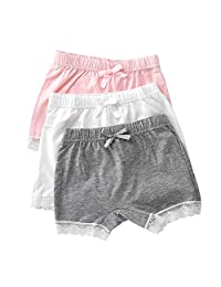 Evelin LEE 3 PCS Kids Girls Lace Knickers Boxer Briefs Underwear Boyshort Underpants