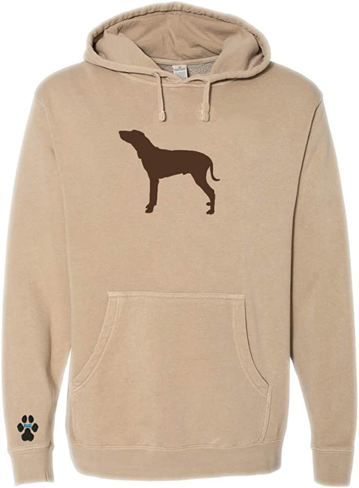 Heavyweight Pigment-Dyed Hooded Sweatshirt with Italian Segugio Silhouette
