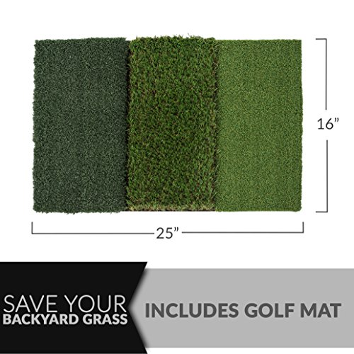 Rukket 4pc Golf Bundle | 10x7ft SPDR Driving Net | Tri-Turf Hitting Mat | Barrier Protective Wings | Carry Bag | Practice Indoor and Outdoor by Rukket Sports (Image #4)