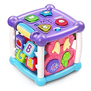 VTech Busy Learners Activity Cube - Purple - Online Exclusive - 51pOoefW WL - VTech Busy Learners Activity Cube, Purple