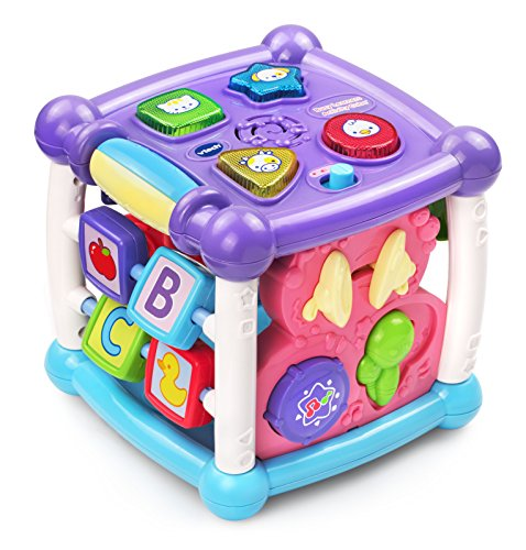 VTech Busy Learners Activity Cube, Purple (Best Developmental Toys For 5 Month Old)