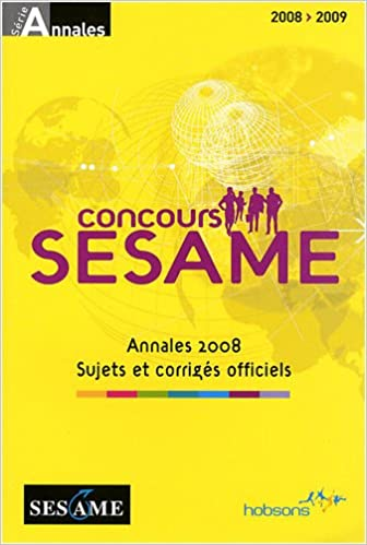 Livres Concours SESAME : Annales, sujets et corrigés officiels pdf, epub