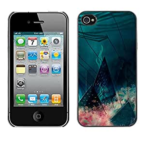 MOBMART Carcasa Funda Case Cover Armor Shell PARA Apple iPhone 4 / 4S - Cones Of Life Under The Sea