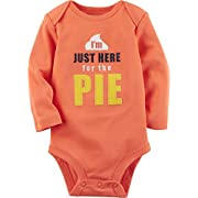 Carter's Baby Here For The Pie Collectible Bodysuit Newborn