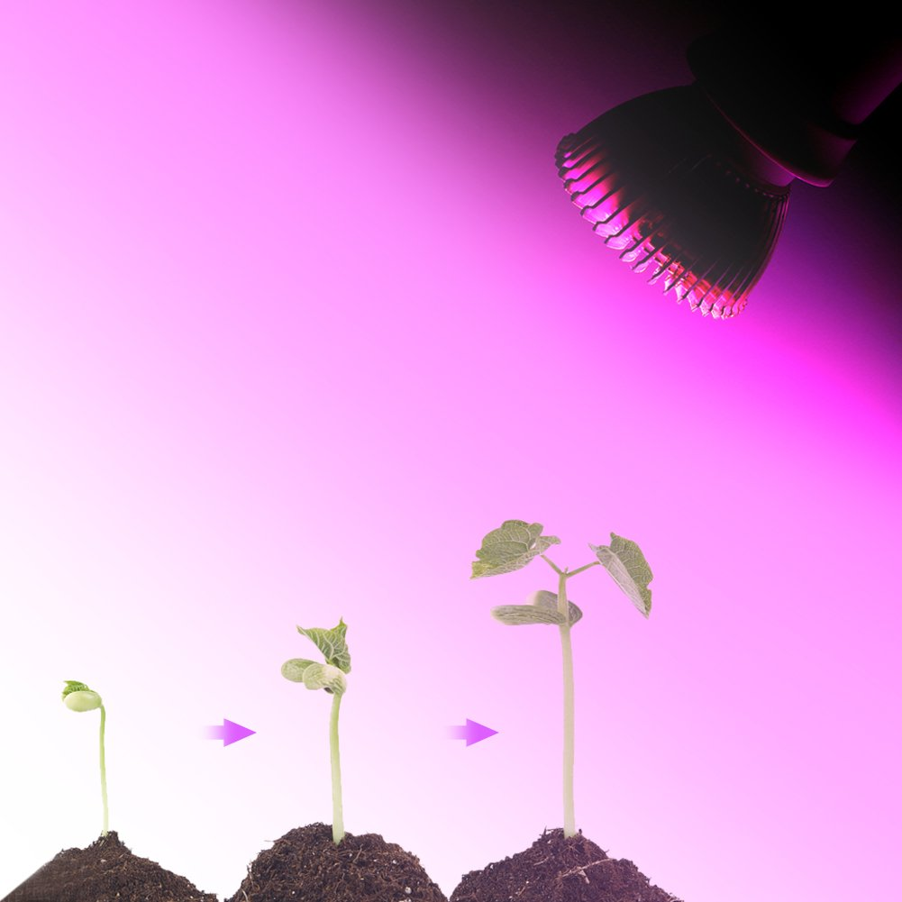 #1 Jacksking L/ámpara de Cultivo Grow Light GU10 85-265V 18W 18 LED Grow Light Flower Plant Bombilla de Crecimiento hidrop/ónico E14 Full Spectrum E27