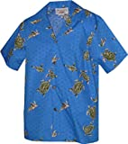Pacific Legend Boys Turtle Swim Shirt BLUE L
