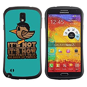 Hybrid Anti-Shock Bumper Case for Samsung Galaxy Note 3 / Message Poster