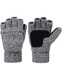 Winter Gloves Warm Wool Mittens With Mitten Cover