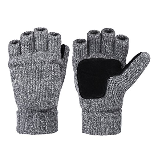 Vbiger+Winter+Warm+Wool+Mittens+Gloves+%28Dark+Grey%29