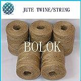 FINCOS Natural Jute Twine 50pcs/lot (2 ply Twisted, Dia.: 1.5mm, 110yards/spool) Jute Rope, DIY Jute Twine
