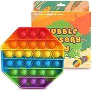 Fidget Toys Pop It Juguete antiestres y de ansiedad, Juguete para aliviar el estrés y la irritabilidad sensori