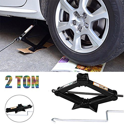 Car Van 2 Ton Tonne Scissor Jack Wind Up Tool With Speed Handle Spare Tyre Tool Kit - 2 Year Guarantee (Conversion Flasher Kit)