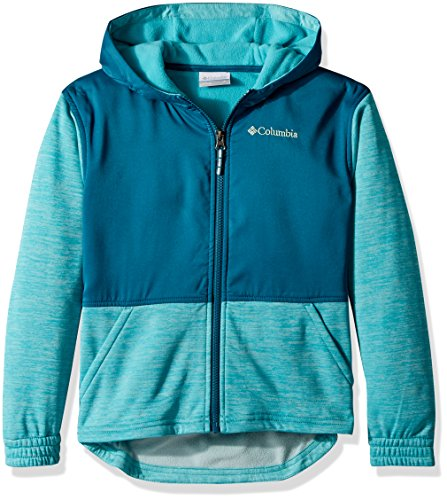 Columbia Kids' Big S'More Adventure Hybrid Hoodie, Geyser Heather, L