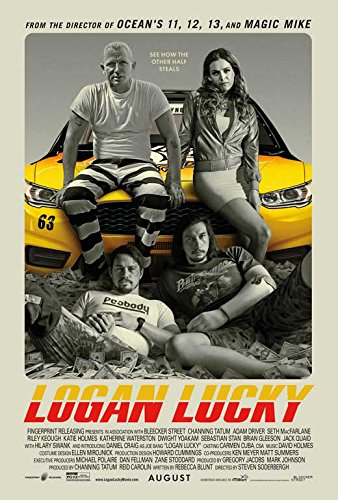 Logan Lucky Movie POSTER 27 x 40 Channing Tatum, Adam Driver, B, MADE IN THE - Logan B
