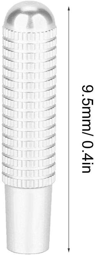 4pcs 9.5mm Aleaci/ón de Aluminio Interior del Coche Cerradura de la Puerta Pin Perilla Cubierta para GLC GLE GLS Vito E//C clase Pin de Bloqueo de la Puerta Silver