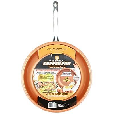 "Original Copper Pan Round Nonstick Fry Pan, 12"", Copper by Original Copper Pan"