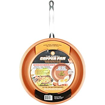 Amazon Com Copper Chef 10 Quot Round Pan With Glass Lid