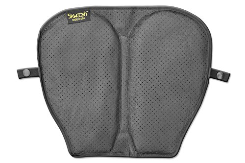 Seat Pad Leather Gel (Mid-size Motorcycle Gel Seat Pad with Perforated Genuine Leather......)