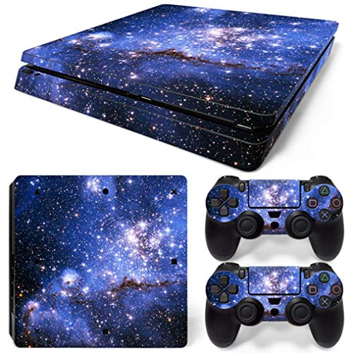 SUKEQ Protective Skin for PS4 Controller, Galaxy Vinyl Sticker Decal Cover for Sony Playstation Console Controller (Galaxy E)