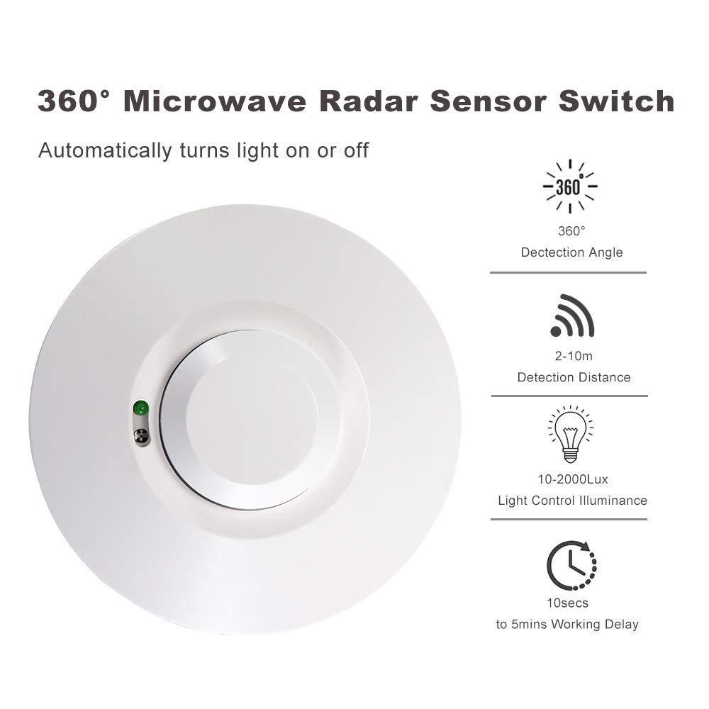 Interruptor de la luz del sensor del radar de microondas ...