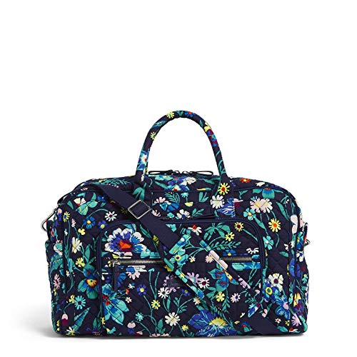 Vera Bradley Iconic Compact Weekender Travel Bag, Signature Cotton, Moonlight Garde