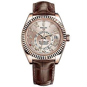 Rolex Sky-Dweller Everose Gold on Brown Leather Strap 326135