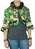 Custo Barcelona Women's Trirty Owl Cropped Jacket 8 Multi-Color