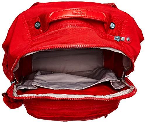 Mochila para portátil Kipling Seoul Go, correas de mochila ajustables y acolchadas, mochila para portátil con cierre de cremallera