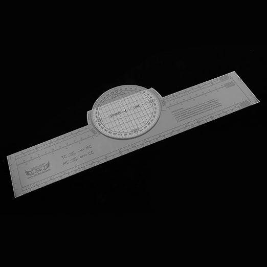 tubayia DIY azimutale plotter giratoria de adiestramiento Vuelo instrumento: Amazon.es: Oficina y papelería