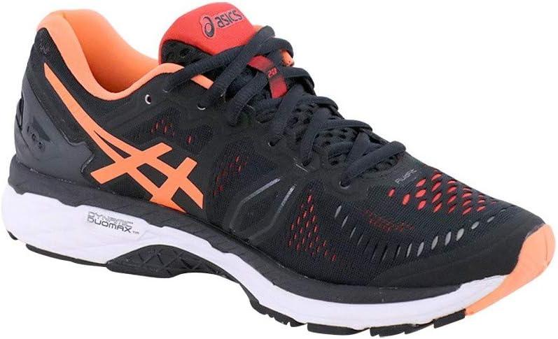 Asics Gel-Kayano 23, Zapatillas de Running para Hombre, Multicolor (Black/Hot Orange/Vermilion), 41.5 EU: Amazon.es: Zapatos y complementos