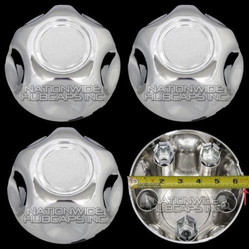 (Set of 4 Ford 5 Lug Chrome Center Cap Wheel Cover Rim Hub Caps Small Middle)
