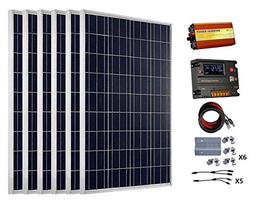 ECO-WORTHY 600 Watts (6pcs 100 Watt) Solar Panel Kit With...