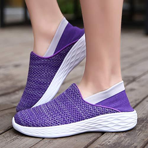 Pour Sunnywill De Couple Air En Femmes Respirantes Violet Décontractées Baskets Plein Chaussures femmes T5HTrxqYw