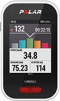 Polar V650 HR - Ciclocomputador para bicicleta con GPS y trasmisor ...
