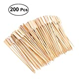 OUNONA 18cm X 200 Cocktail cooking Paddle skewer bamboo Japanese style for Fruit BBQ Use