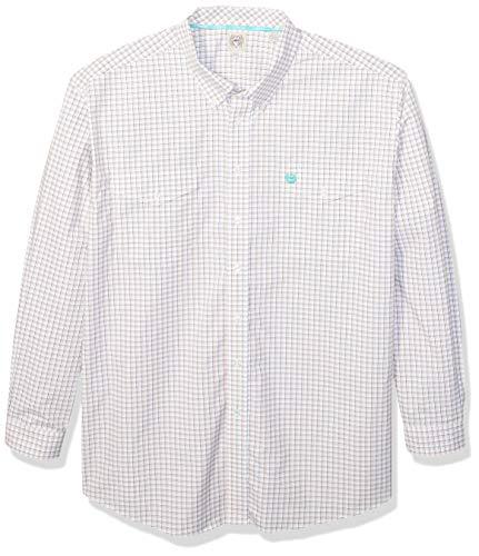 (Cinch Men's Classic Fit Long Sleeve Button Two Flap Pocket Plaid Shirt, Cesar White, XXL)
