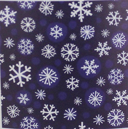Holiday Time Blue Snowflake Design Plush Throw