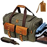 Canvas Duffle Bag Overnight Bags for Men Weekend Travel Duffel Weekender Bags For