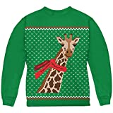 Animal World Big Giraffe Scarf Ugly Christmas Sweater Youth Sweatshirt
