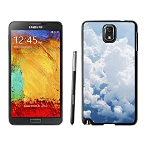 NEW Unique Custom Designed For Case Samsung Galaxy S3 I9300 Cover Phone Case With Puffy White Clouds_Black Phone Case