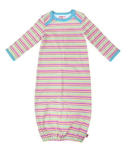 Gown Stripe Candy (Zutano Receiving Gown- Rainbow Candy Stripe, 3 Months)