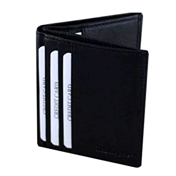 Fashion Sale Men/'s Luxury Soft  Black Leather Credit Card Holder Wallet  OS